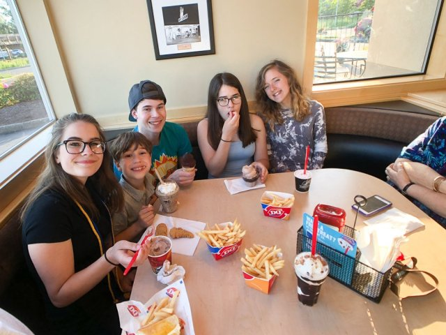 Phi Theta Kappa induction and Dairy Queen