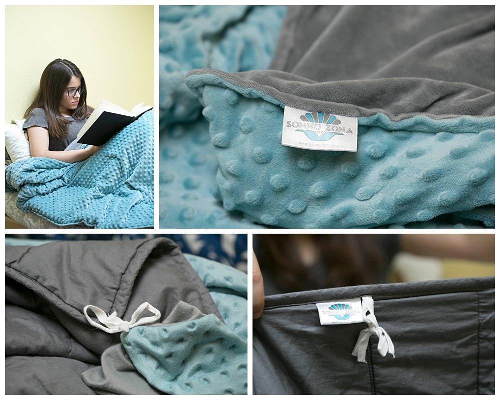 Weighted Blanket Review Mosaic Weighted Blanket Huggaroo