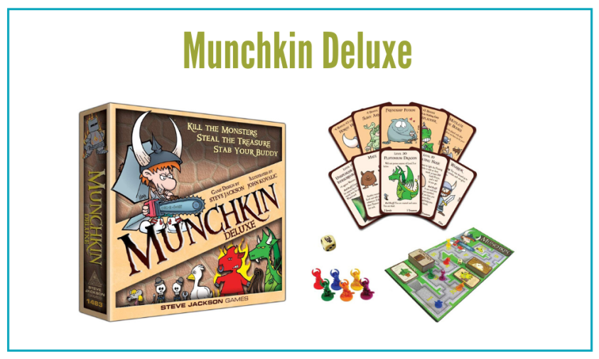 Munchkin Deluxe is a board game my boys can't get enough of!