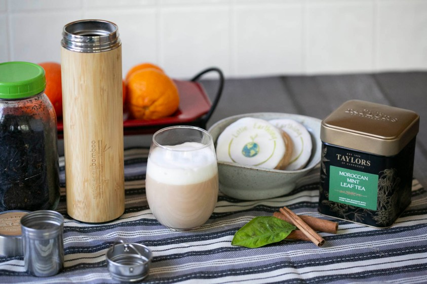 teabloom bamboo infuser with a london fog