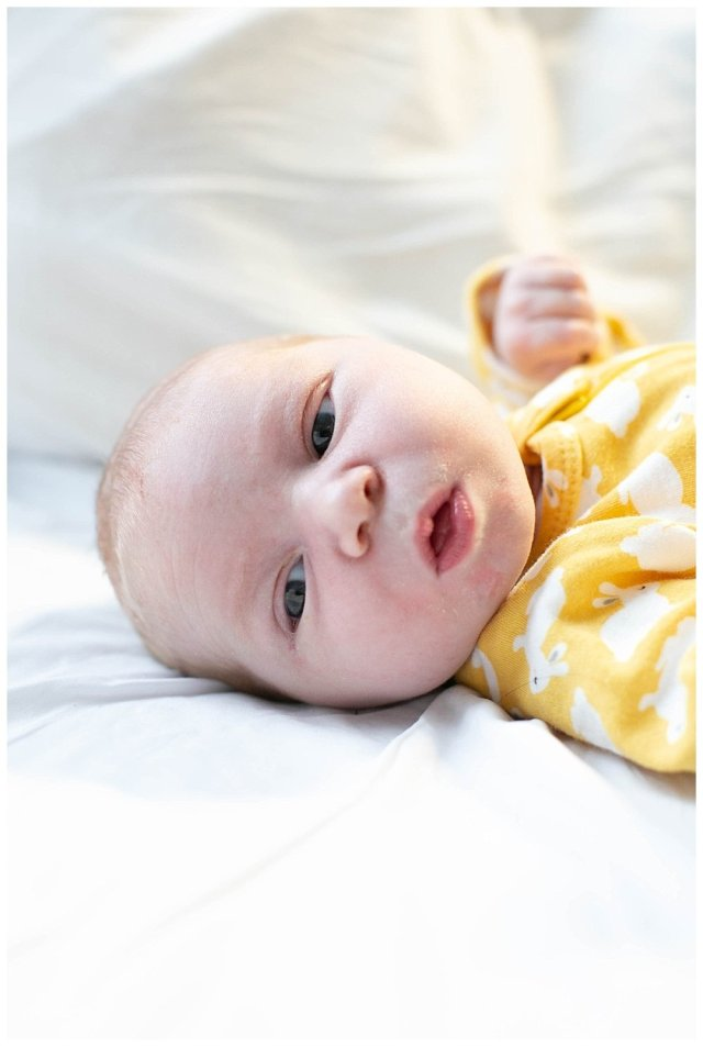 Newborn Abel in the hospital.