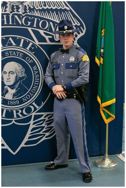 Judah is officially a state trooper.