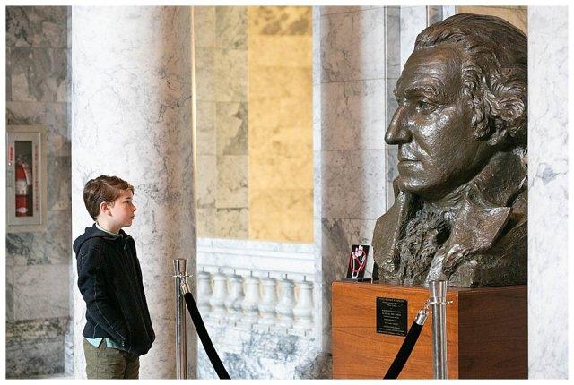 Apollo and George Washington Bust.