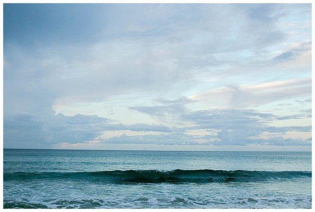 Blue waves at Ocean Beach Whangarei.