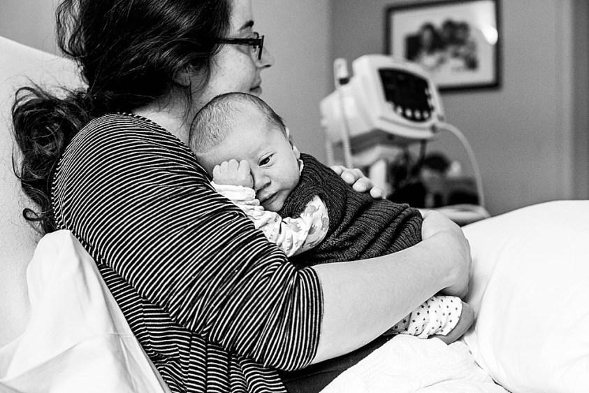 Newborn Monty in the hospital.