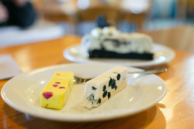Nougat in the cafe at Pukaha National Wildlife Reserve