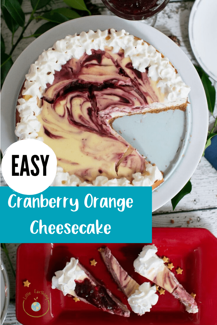 Cranberry Orange Cheesecake Recipe. Easy cheesecake recipe.