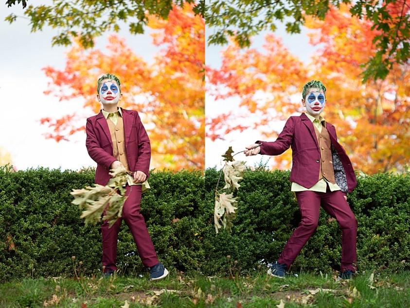 Joker inspired photo shoot. Perfect costume for halloween.