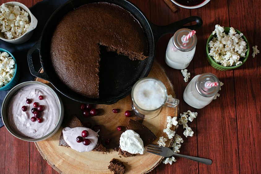 This rustic gingerbread recipe is perfect served with fresh whipped cream.
