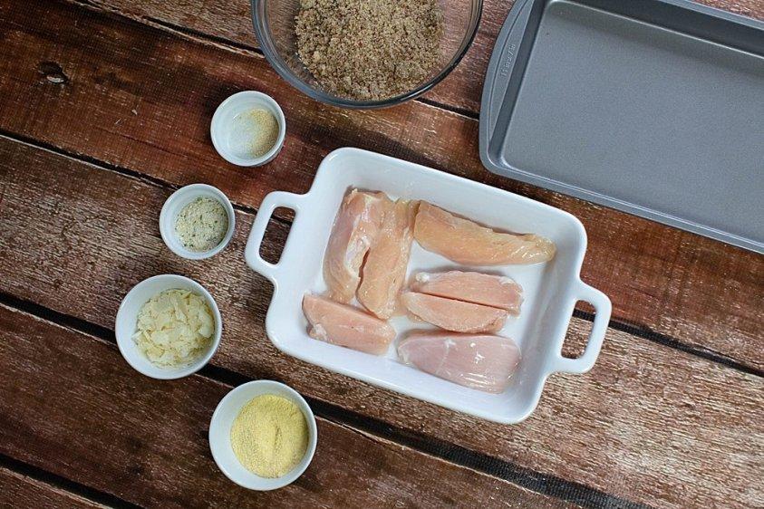 Easy to make air fryer chicken strips.