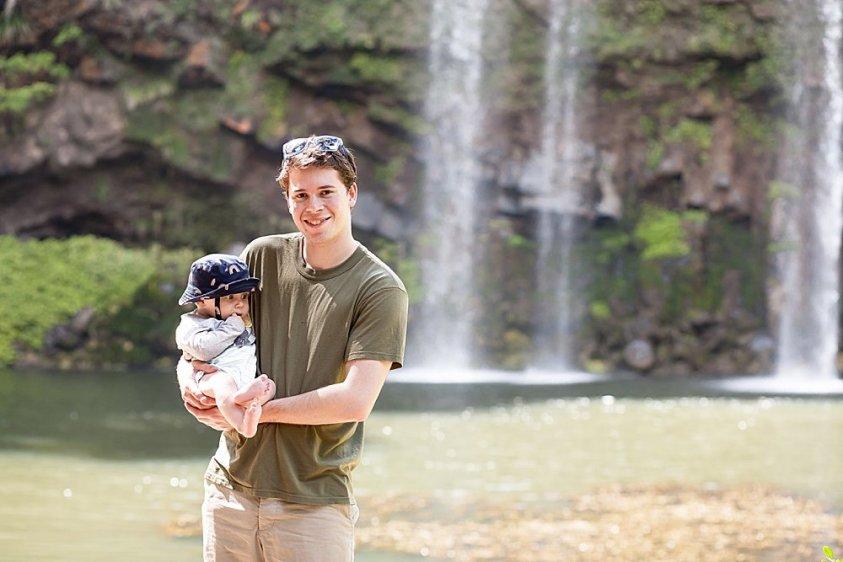 Judah and Abel at Whangarei Falls.
