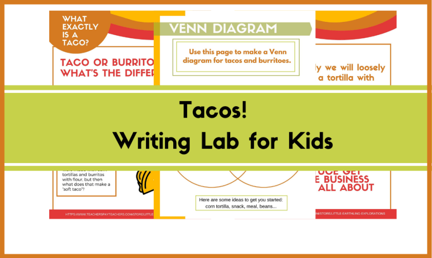 Taco Writing Lab for kids ages 8-10