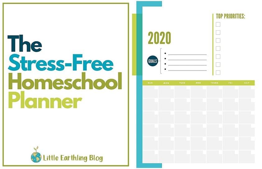 How to plan homeschool year . Printable homeschool planner.