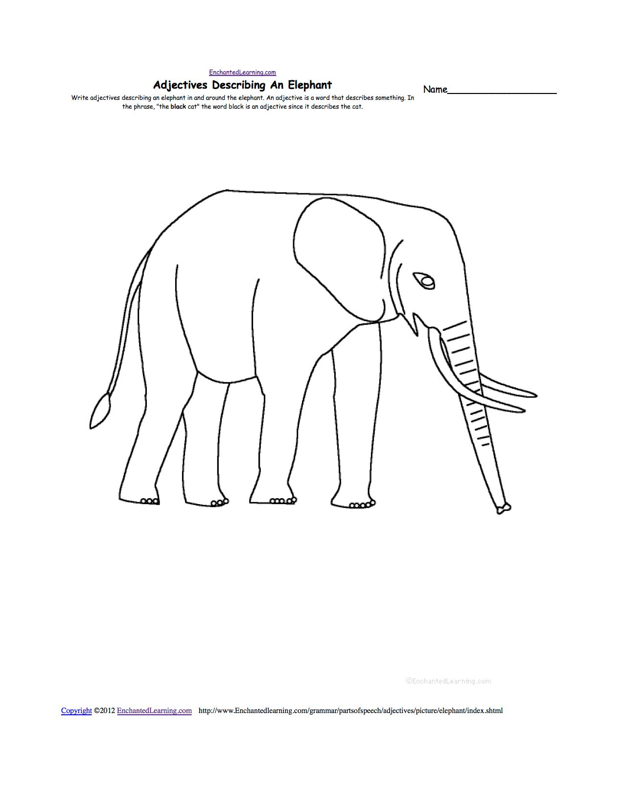 Elephants At Enchantedlearning