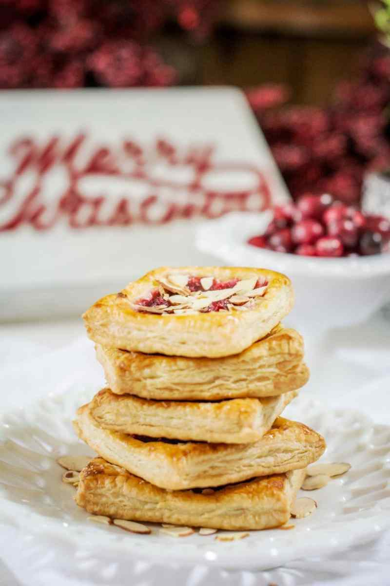 Cranberry Cream Cheese Pastries recipe, one of my favorite ways to use the inevitable leftover cranberry sauce from the holiday dinner. Get the recipe at Little Figgy Food. #InspiredByPuff #ad