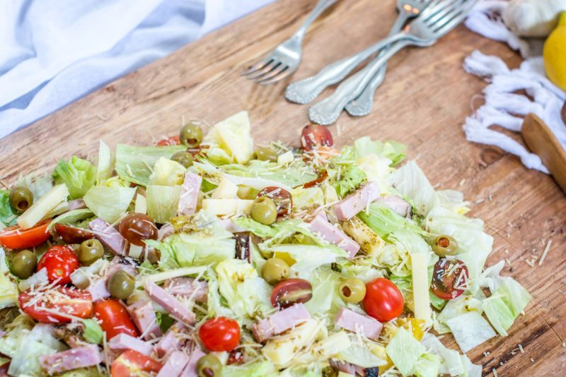 Try making this amazing 1905 Salad for your guest and serve it straight up on a huge board for everyone to dig in and enjoy! Get the recipe from Little Figgy Food