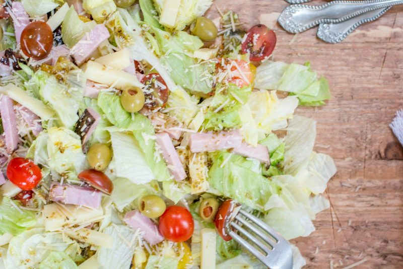 Make up this super easy 1905 Salad and enjoy on it's own as a meal or as the perfect side salad for any meal! Recipe at Little Figgy Food