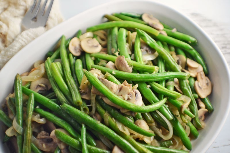#FreshFromFlorida - #InSeason - Florida Snap Green Beans with Caramelized Onions & Mushrooms