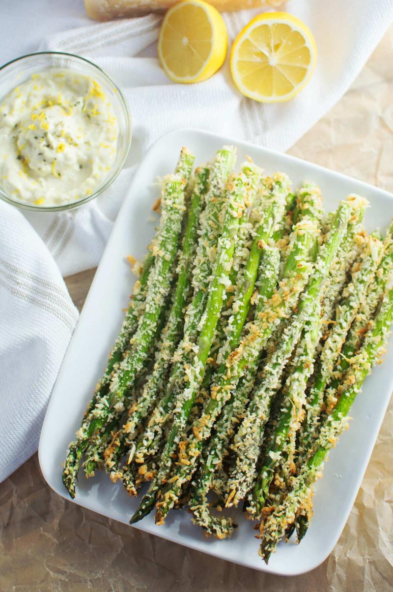 Asparagus Parmesan Fries #Recipe - @LittleFiggyFood