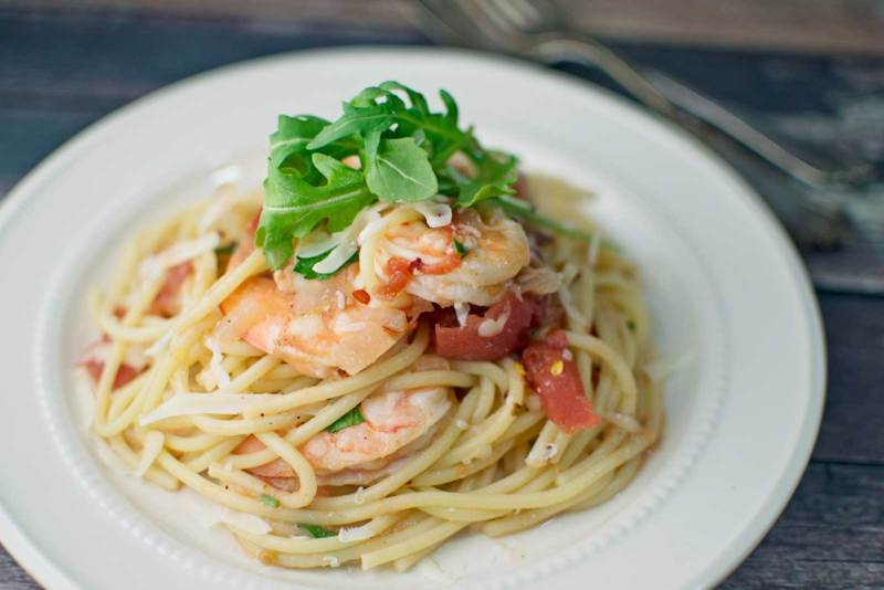 Spicy Shrimp with Pasta - @LittleFiggyFood - #Pasta