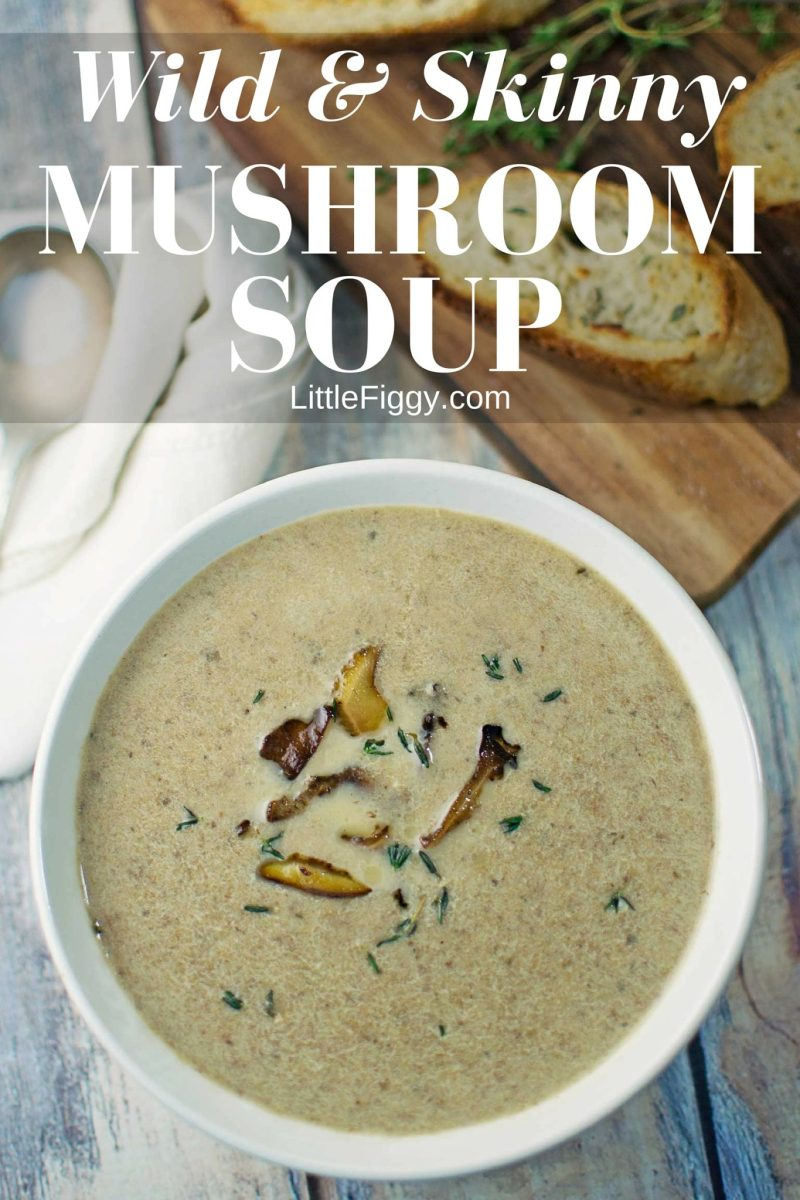 Mushroom Soup - #Mushrooms - @LittleFiggyFood