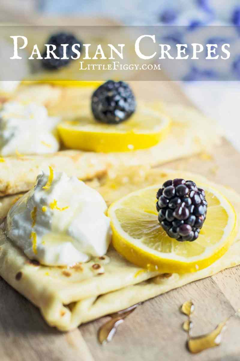 Try these Basic Parisian Crepes and enjoy anytime of day from breakfast, lunch or dinner! Recipe @LittleFiggyFood