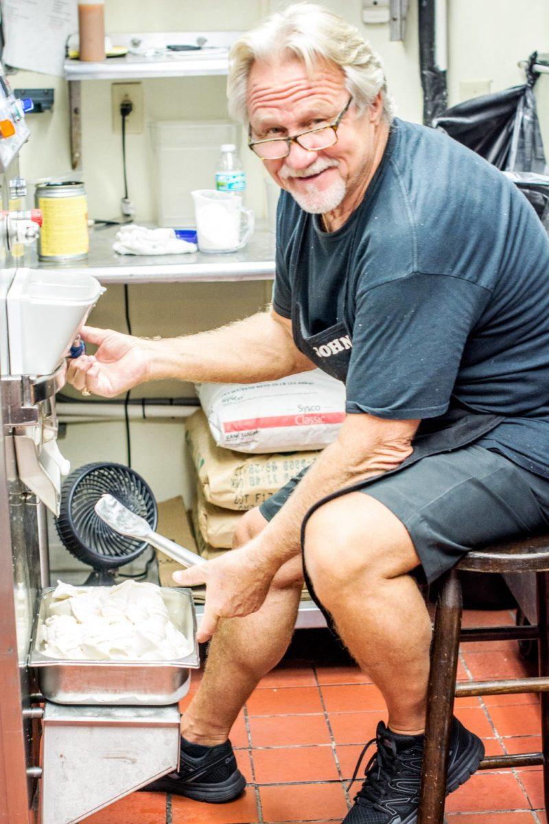 John is the master gelato maker at Cafe del Hidalgo in St. Augustine.