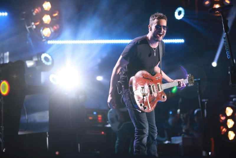 Eric Church performs at Nissan Stadium on Friday, June 9 during the 2017 CMA Music Festival in downtown Nashville.