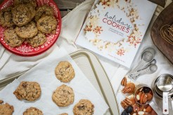Baking up some Everything Cookies, the ideal recipe to use up your holiday baking leftovers! Enjoy for yourself, perfect for cookie swaps or enjoy giving as a gift from your kitchen! Get the Recipe at Little Figgy Food! #GiftThemJoy #WorldMarketTribe @WorldMarket #ad
