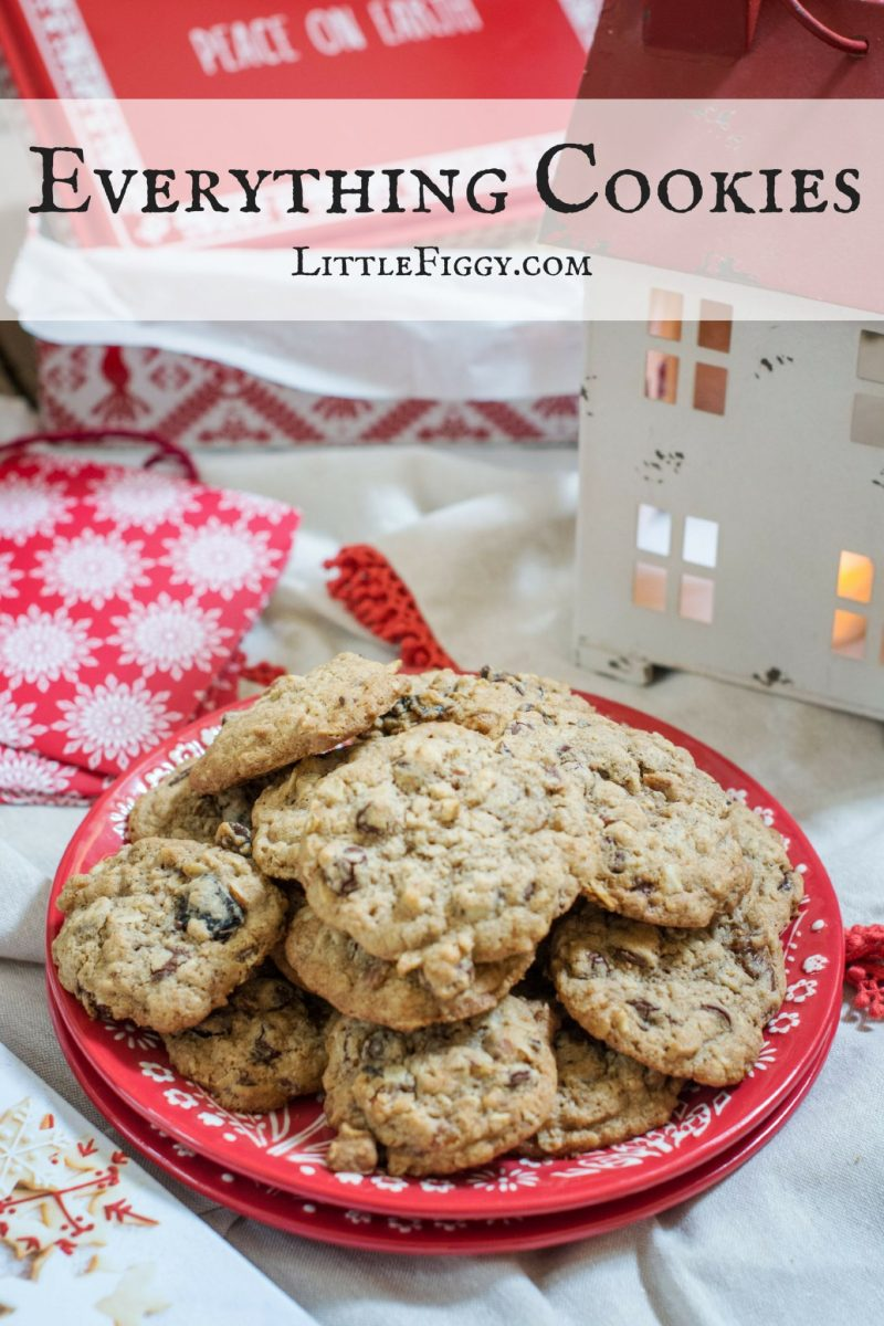 Everything Cookies, the ideal recipe to use up your holiday baking leftovers! Enjoy for yourself, perfect for cookie swaps or enjoy giving as a gift from your kitchen! Get the Recipe at Little Figgy Food! #GiftThemJoy #WorldMarketTribe @WorldMarket #ad