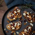 Pear Walnut and Blue Cheese Bruschetta, a Gorgeous Appetizer!