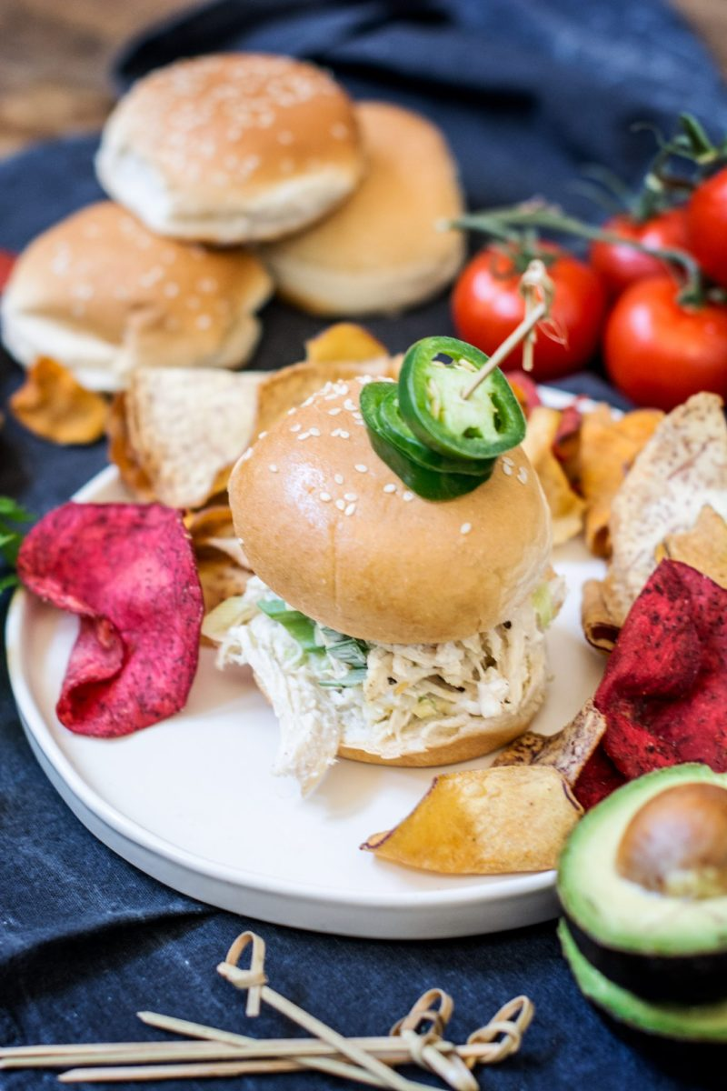 Getting ready for a brilliant get together with these Creamy Chicken Enchilada Sliders using my favorite Pepperidge Farm Slider Buns! Learn more https://ooh.li/9c64564. Get the recipe at Little Figgy Food. #Ad #RespectTheBun #LittleBunsBigWin #BakedWithCare