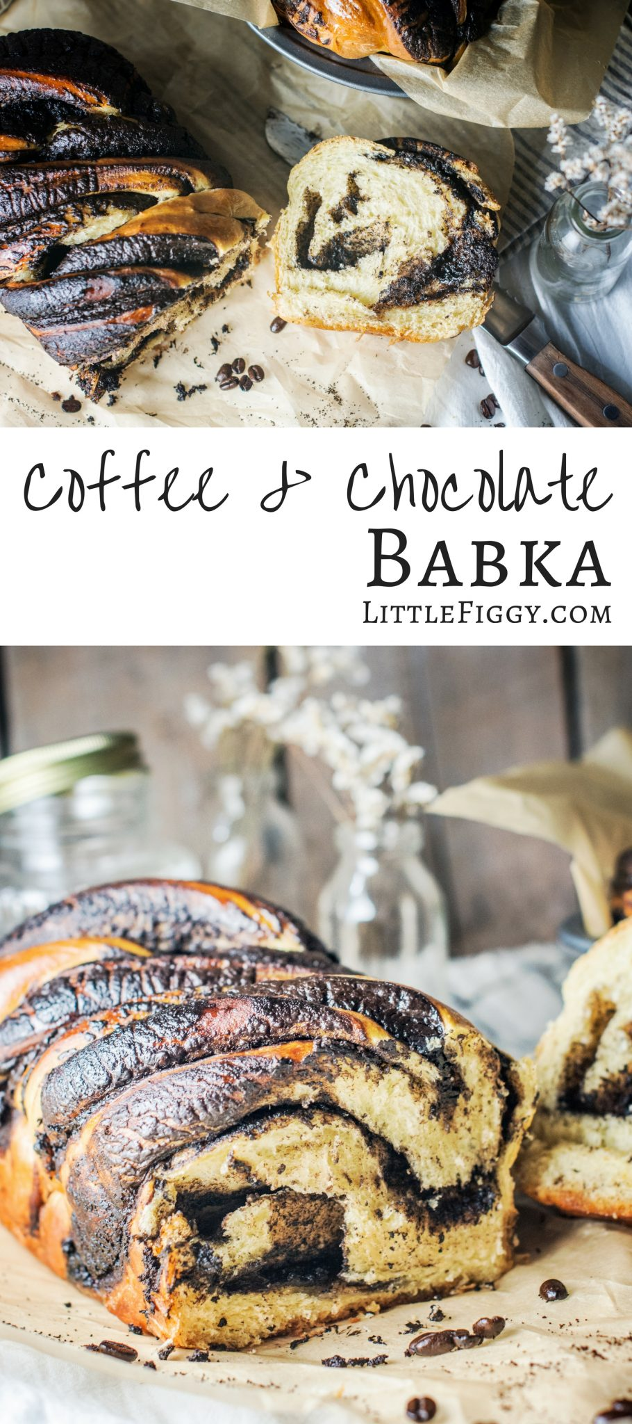 Coffee and Chocolate Babka! Make this gorgeous tasting sweet bread that has been infused with strongly brewed coffee and has ribbons of dark chocolate! @folgers #ad