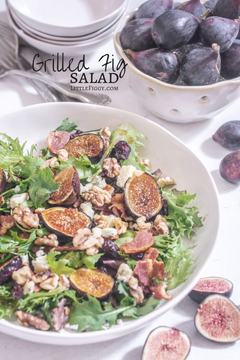 Simple to make, Grilled Fig Salad, perfect to serve as a side for dinner or simple lunch.