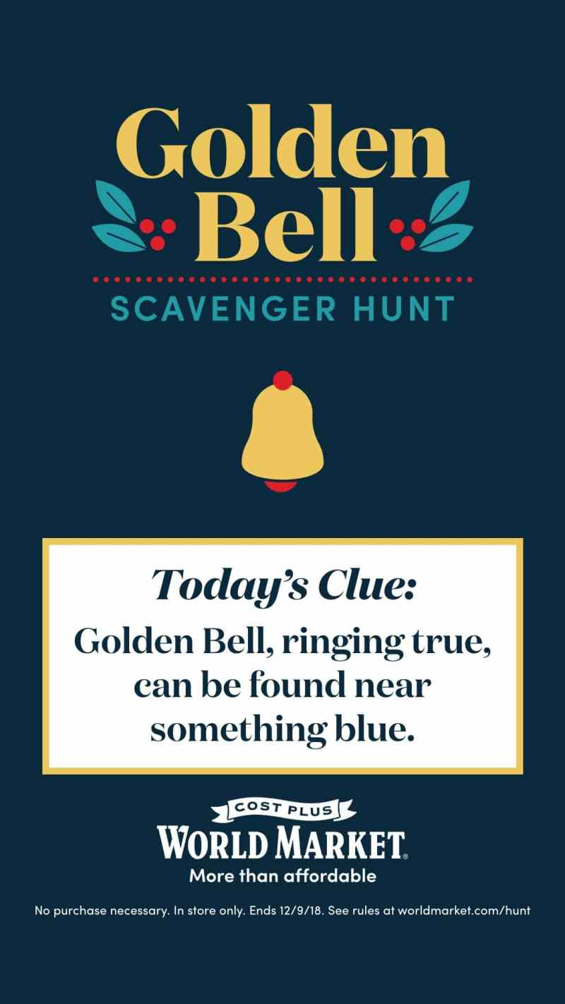 Golden Bell Scavenger Hunt Clue 1