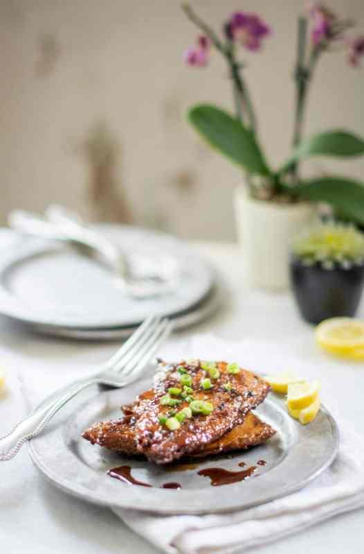 Earl Grey Balsamic Glazed Salmon Recipe