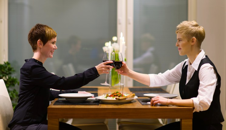 Lesbian Table For Six