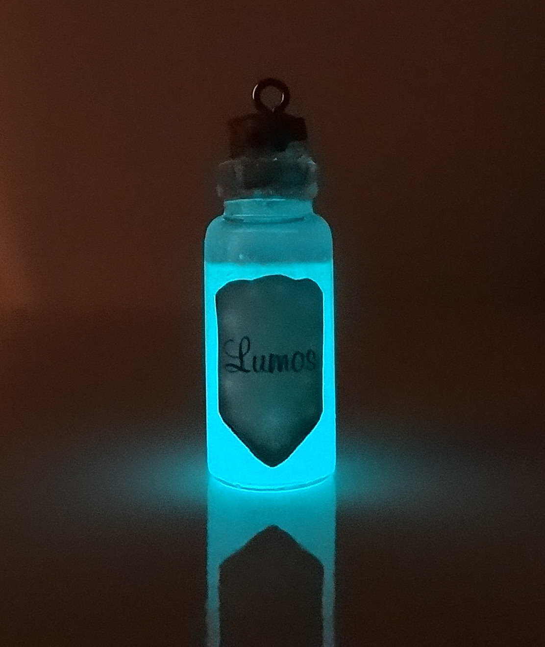 Little Gem Girl Glow In The Dark Lumos Mini Glass Bottle