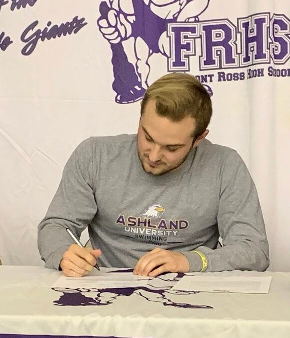Dylan Weisenauer signs to continue swim career at Ashland