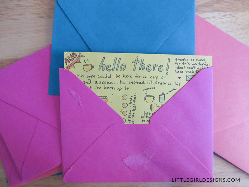 One of my favorite gift ideas of all time—Write Me Back cards. Everybody loves real mail! Read more at littlegirldesigns.com
