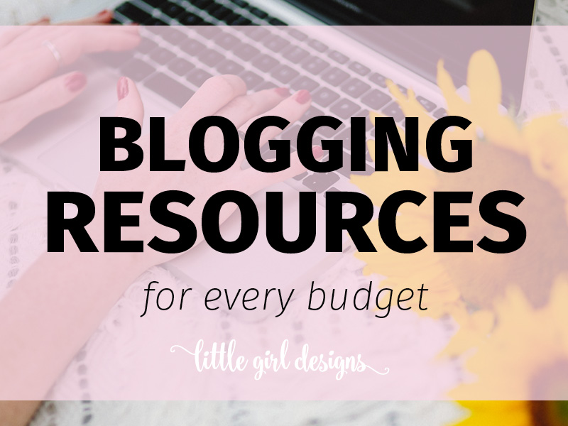 Blogging Resources for every budget - I've compiled a list of resources that cover what you need to know as a blogger. Podcasts, a great learn to blog series (that's free!), a course that will give you RESULTS, a pin scheduler that is cost-effective (and works!) and even a workout to counteract all of those hours sitting at the computer! :) via littlegirldesigns.com