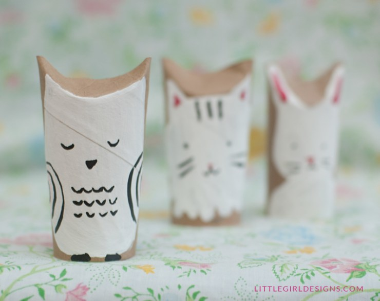 Woodland Creatures Toilet Paper Toys Owl