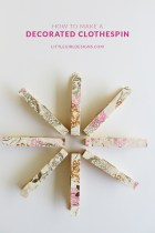 Decorated Clothespin Crafts