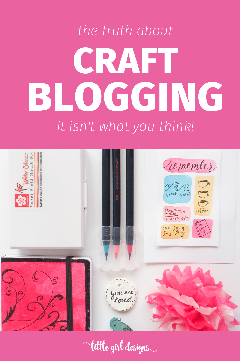Before you get discouraged because your craft projects don't measure up to Pinterest, you need to know the truth about craft blogging. via littlegirldesigns.com