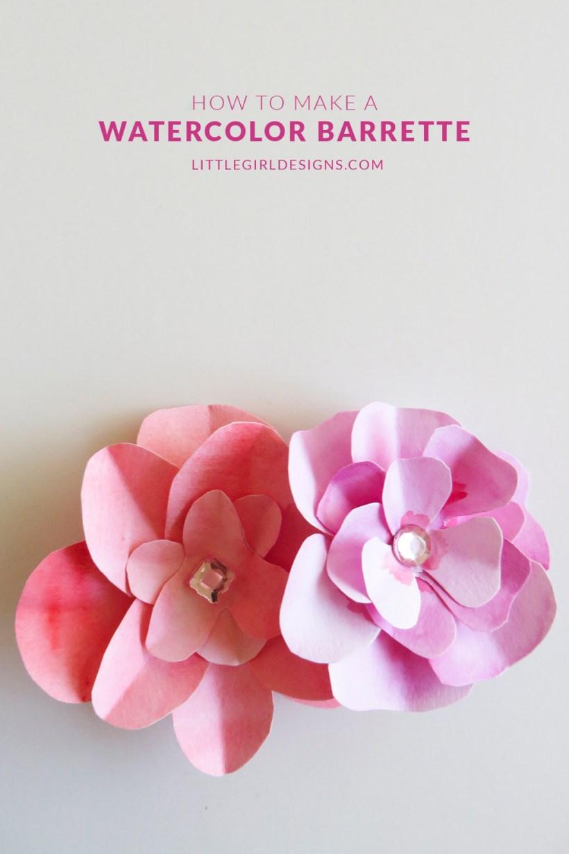 Make a Watercolor Flower Barrette - Jennie Moraitis