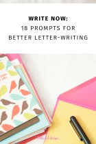 Write Now: 18 Letter Writing Prompts