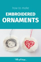Make Your Own Embroidered Ornaments