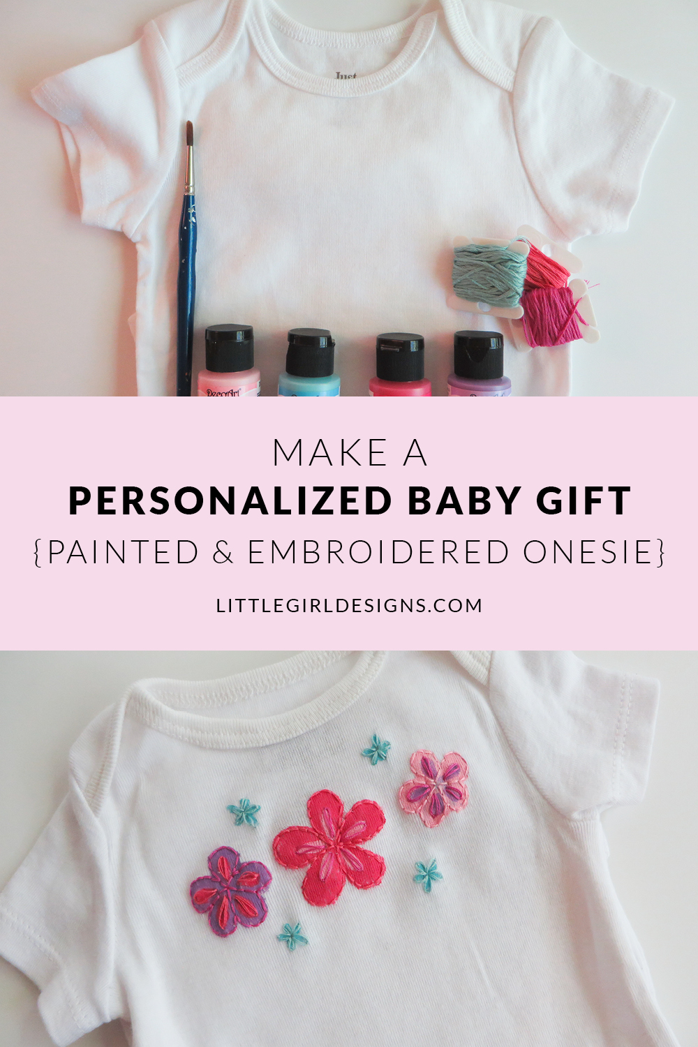 7b5d76e71 A Personalized Baby Gift: A Painted & Embroidered Onesie - Jennie ...