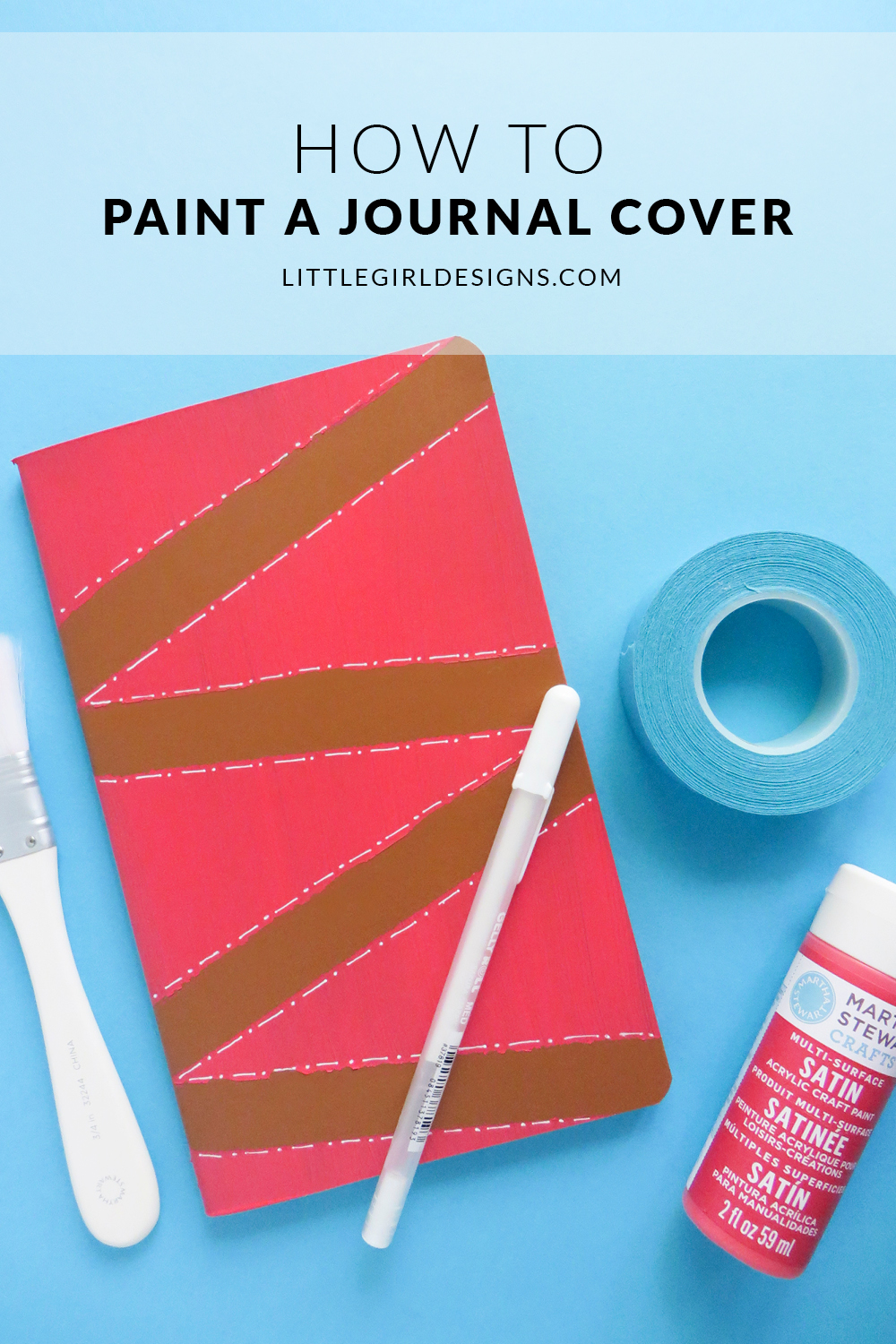 How To Paint A Journal Cover Jennie Moraitis