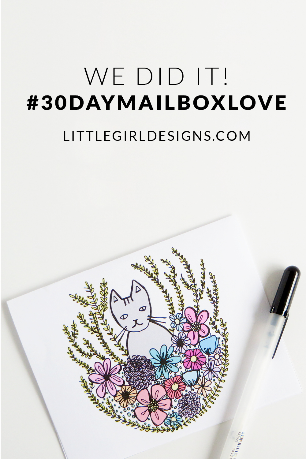 A tiny glimpse of the #30daymailboxlove challenge by littlegirldesigns.com. Join us to share more real mail and to encourage our friends! :)